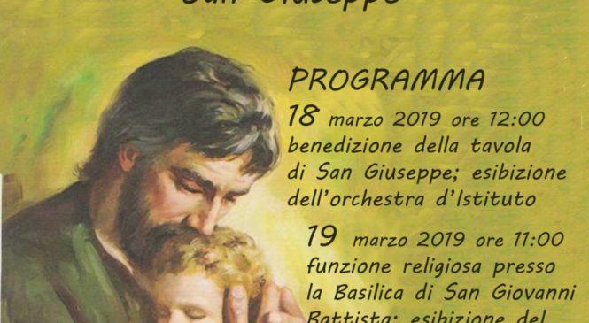 18-19 Marzo – Terza edizione della Tavola di San Giuseppe.  I.C. San Biagio