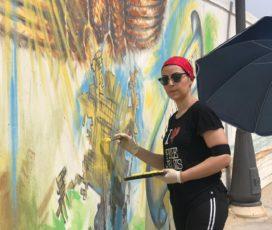Scoglitti, ripristinata la cromia del murales dedicato alla città di Vittoria