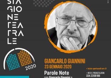 23 Gennaio – Giancarlo Giannini: Parole Note