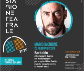26 Febbraio – Mario Incudine: Barbablù
