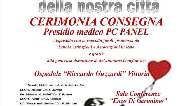 25 Giugno – Aiutiamo l'ospedale della nostra Città: cerimonia di consegna Pc panel